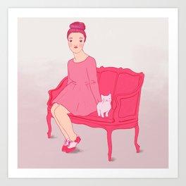 Fröken Saudade Art Print