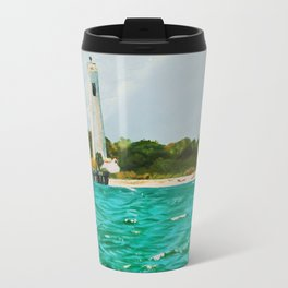 Egmont Key Lighthoues Painting Travel Mug