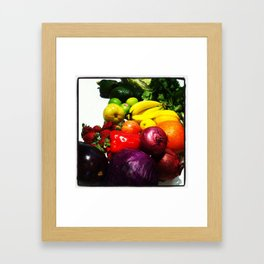Fruit and Vegetables Framed Art Print