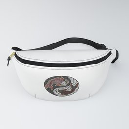 Koi Yin Yang | Fish Fishing Aquarium Fish Tank Fanny Pack