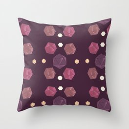 Red and Purple DnD Dice Throw Pillow