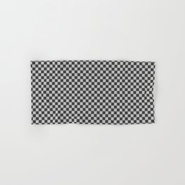 Black and White Checkerboard Carbon Fiber Pattern Hand & Bath Towel