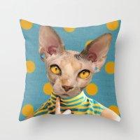 dot Throw Pillows featuring DOT by Julia Lillard Art