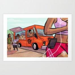 Cupcakes & Summertime Art Print