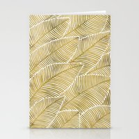 tropical Stationery Cards featuring Tropical Gold by Cat Coquillette