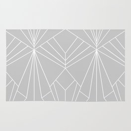 Art Deco on Grey - Large Scale Rug