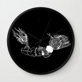 Restless in black Wall Clock