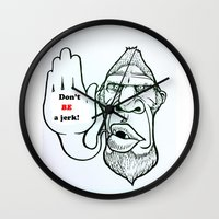 sasquatch Wall Clocks featuring Sasquatch say... by Blu Bullvyn