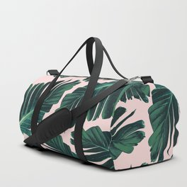 Tropical Blush Banana Leaves Dream #1 #decor #art #society6 Duffle Bag