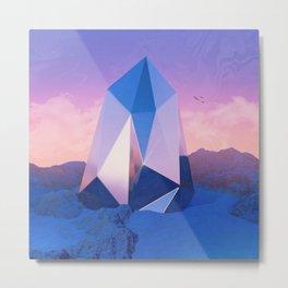 Blue Quartz Metal Print