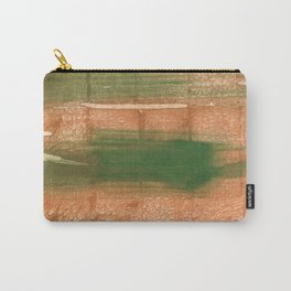 Peru green streaked wash drawing illustration Carry-All Pouch
