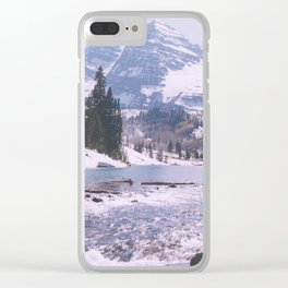 Outlet, Maroon Lake/Maroon Bells above Aspen, Colorado Clear iPhone Case