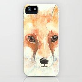 Watercolour Fox iPhone Case