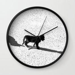 Cute cats shadows Wall Clock