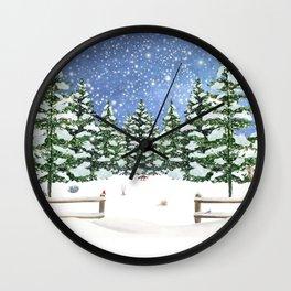 A Winter's Night Wall Clock