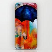 portlandia iPhone & iPod Skins featuring Parapluie by Beth Ann Short by Beth Ann Short