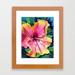 Tropical Bliss Hibiscus Framed Art Print