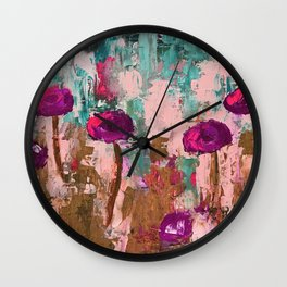 Rock Your Grunge with a Bit of Teal Wall Clock
