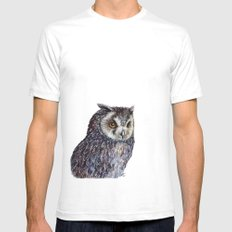 Owl SMALL Mens Fitted Tee White