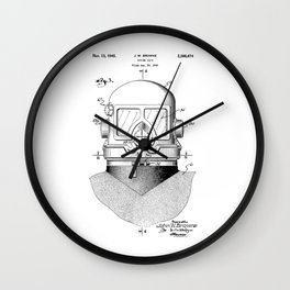 patent art Browne 1945 Diving suit Wall Clock