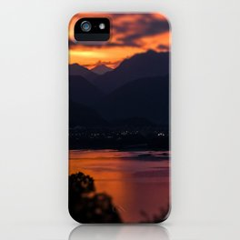 Locarno and Ascona at sunset iPhone Case