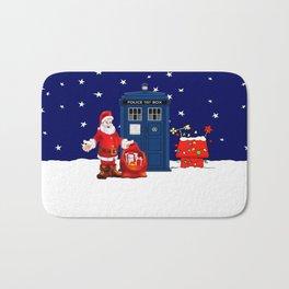 Tardis With Santa Christmas Bath Mat