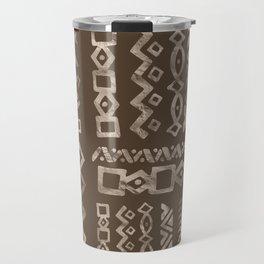 Bold Folk pattern pastel gold n.8 Travel Mug