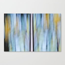 Buttery Lines (Abstract Blue) Canvas Print