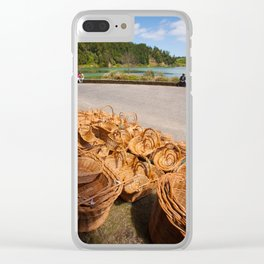 Wicker baskets for sale Clear iPhone Case
