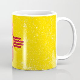 New Mexico State Flag Grunge Coffee Mug