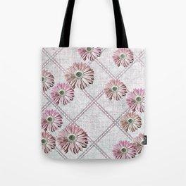 retro pink daisies Tote Bag