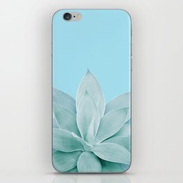 Light Blue Agave #1 #tropical #decor #art #society6 iPhone Skin