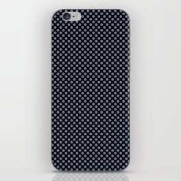 Black and Country Blue Polka Dots iPhone Skin