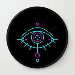 Eye of awakening black version Wall Clock