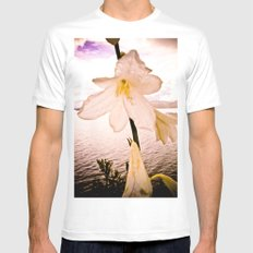 FLOWER IN THE IMMENSITY White MEDIUM Mens Fitted Tee