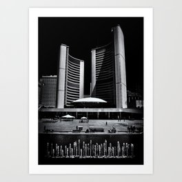 Toronto City Hall No 6 Art Print