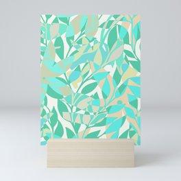 Turqoise bloom Mini Art Print