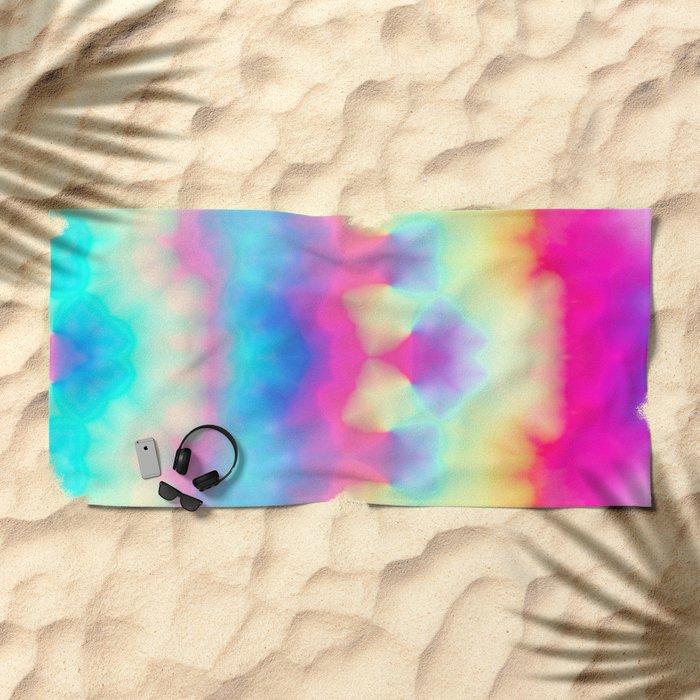 Heavenly Tie Dye Fractal Beach Towel