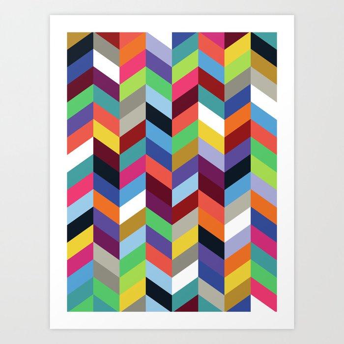 Chevronica Series: Soirée Art Print