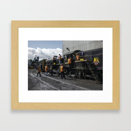 Many Hands make light work Framed Art Print
