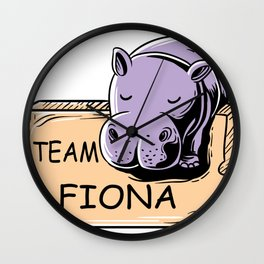 Feeling Hip Preemie Baby Hippo Fiona Team Fiona  Wall Clock