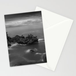 Big Sur, California Pacific Coast Highway coastal beach black and white photograph / art photography Stationery Cards