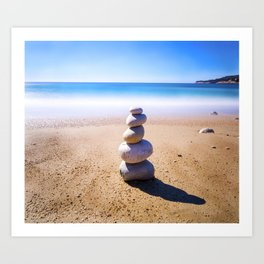 Cassis Stone Pile Art Print