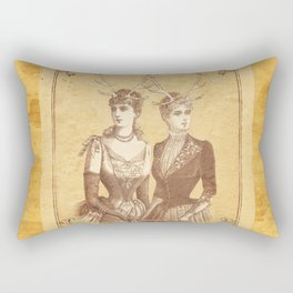 Sisters Emmaline And Cornelia Always Wore The Biggest Hats Rectangular Pillow