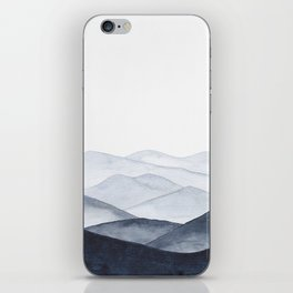 Watercolor Mountains iPhone Skin