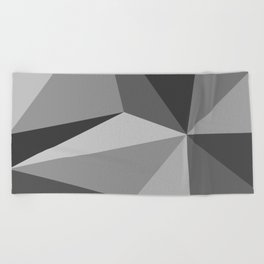 Different shades of Grey Beach Towel