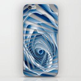 Blue Rose Spiral iPhone Skin