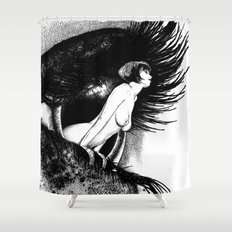 asc 602 - La spectatrice (Valentina at the gallery) Shower Curtain