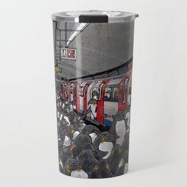 Penguins on the London Underground Travel Mug