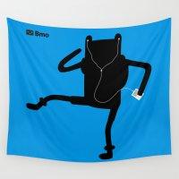 bmo Wall Tapestries featuring Bmo's Campaign x Finn. by Agu Luque
